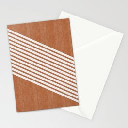 Mid Century Modern Abstract Lines Left Stationery Cards