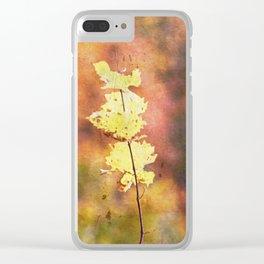 Seasonal Closeup - Autumn Clear iPhone Case