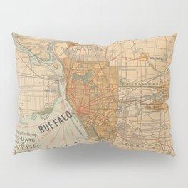 Vintage Map of Buffalo NY (1893) Pillow Sham