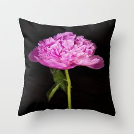 Monsieur Jules Elie Pink Peony Throw Pillow