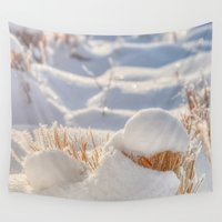 notebook Wall Tapestries featuring And finally Winter, with its bitin', whinin' wind, and all the land will be mantled with snow. by UtArt