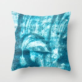 Blue Foam Lightroom Nail Polish Throw Pillow