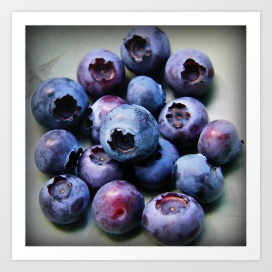Blueberries - You Know You Want One Art Print
