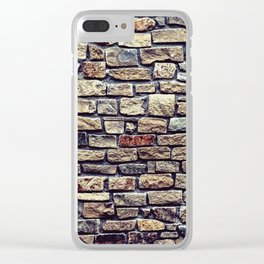 Brick Wall Pattern Clear iPhone Case