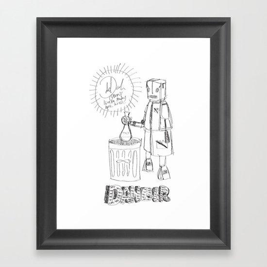 Danger. [SKETCH] Framed Art Print