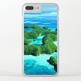 Palau Island Paradise Clear iPhone Case