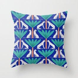 Cheetahs and Palms Throw Pillow