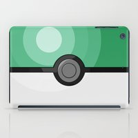 pokeball iPad Cases featuring Seafoam Pokeball by Amandazzling