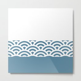 Rainbow Trim Pastel Blue Metal Print