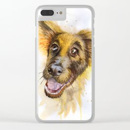 funny dog Clear iPhone Case