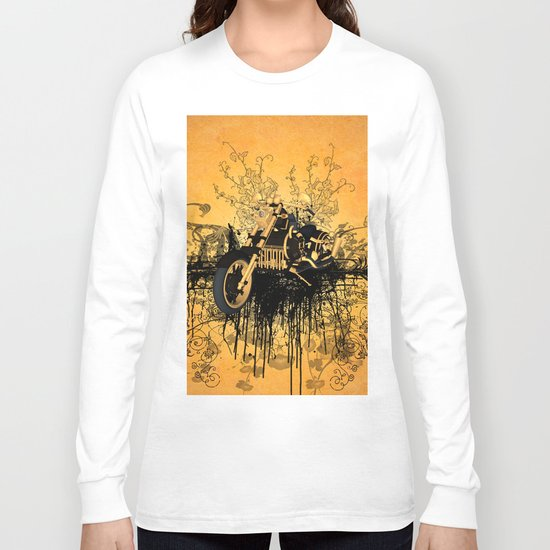 Steam motorcycle Long Sleeve T-shirt
