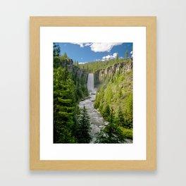 Tumalo Falls Bend Oregon Framed Art Print