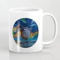studio ghibli Mugs featuring Studio Ghibli: My Neighbour Totoros by Laurence Andrew Page Illustrator