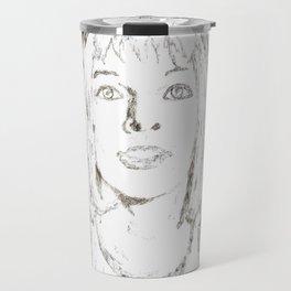 Leeloo Fifth Element sketch- Milla Jovovich Travel Mug