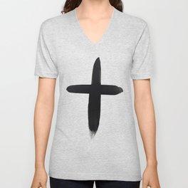 Watercolor Cross Unisex V-Neck