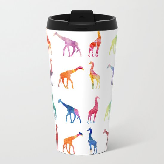Giraffes Metal Travel Mug