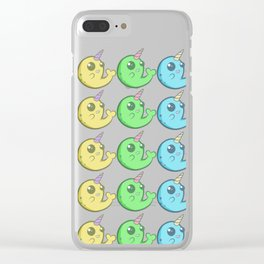 Rainbow Narwhals Clear iPhone Case