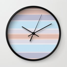 Pastel stripes 1 Wall Clock