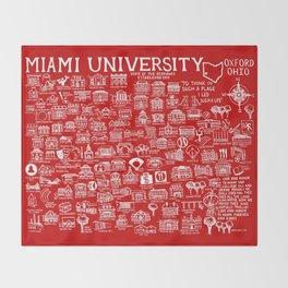 Miami University Map Throw Blanket