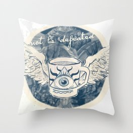 Not Be Defeated Throw Pillow