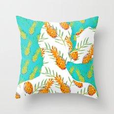 Pineapples Throw Pillow