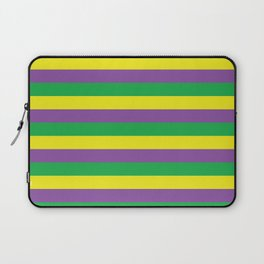 Purple Green and Gold Stripes #society6 Laptop Sleeve