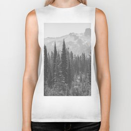 Escape to the Wilds - Black and White Nature Photography Biker Tank
