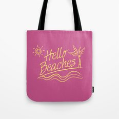 Hello Beaches Tote Bag