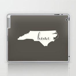 North Carolina is Home - White on Charcoal Laptop & iPad Skin