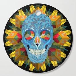 Blue Skull with Mandala Cutting Board