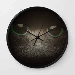 Cats, darklight Wall Clock