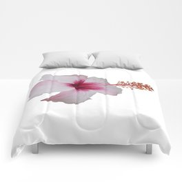 Pale Pink Hibiscus Tropical Flower No Text Comforters