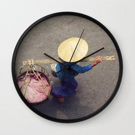 Street seller, Vietnam Wall Clock