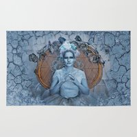 evil queen Area & Throw Rugs featuring Introducing the Evil Ice Queen by altimus pond