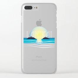 Lanikai Sunset Clear iPhone Case