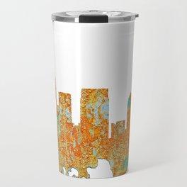 Atlanta, Georgia Skyline - Rust Travel Mug