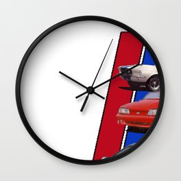 Mustang Through the years Wall Clock