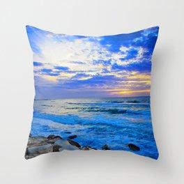 Tel Aviv Beach Sunset Throw Pillow