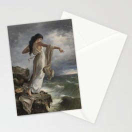 """""""Death of Sappho"""" by Miguel Carbonell Selva (1881) Stationery Cards"""