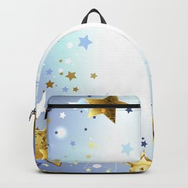 Blue Background with Gold Stars Backpack