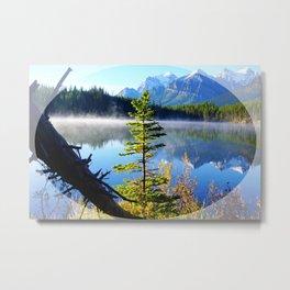 Misty Mountain Lake Metal Print