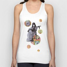 Guitarist in Time Unisex Tank Top