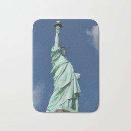 Blue Skies Behind Lady Liberty Bath Mat