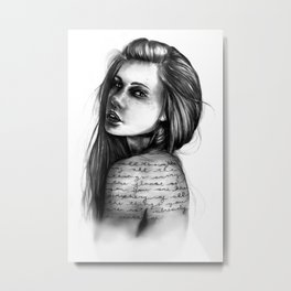 Periphery // Illustration by Hayley Wright Metal Print