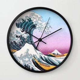 The Great Wave off Kanagawa - by Hokusai Wall Clock