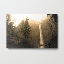 Multnomah Falls - Upper Falls Metal Print
