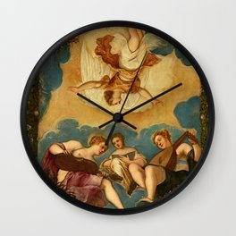 "Tintoretto (Jacopo Robusti) ""Allegory of Music"" Wall Clock"