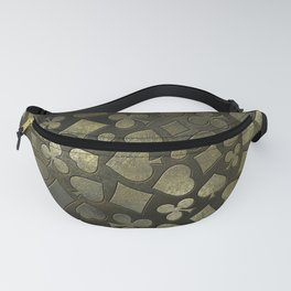 Vintage Gold and Marble Suits Pattern Fanny Pack