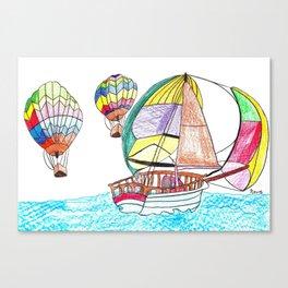 Hot Air Sailing Canvas Print