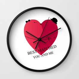 best matched - I love you Wall Clock